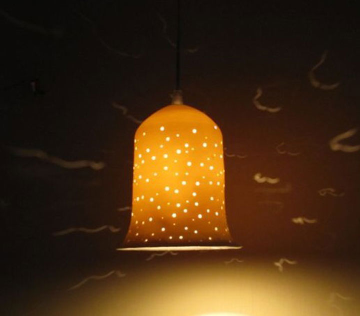 lights fixtures- Large porcelain bell, hanging, 19 cm high