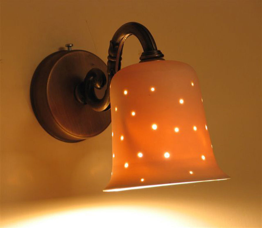 lights fixtures- Small porcelain bell, 11 cm high