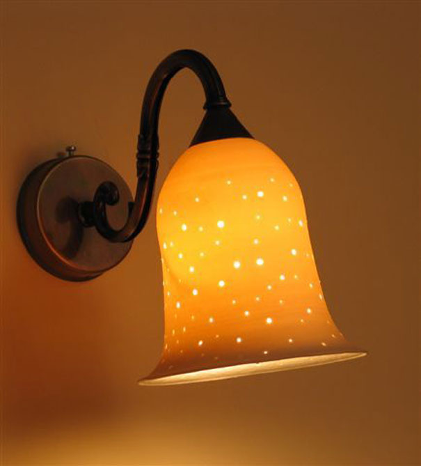 lights fixtures- Medium porcelain bell, 16 cm high