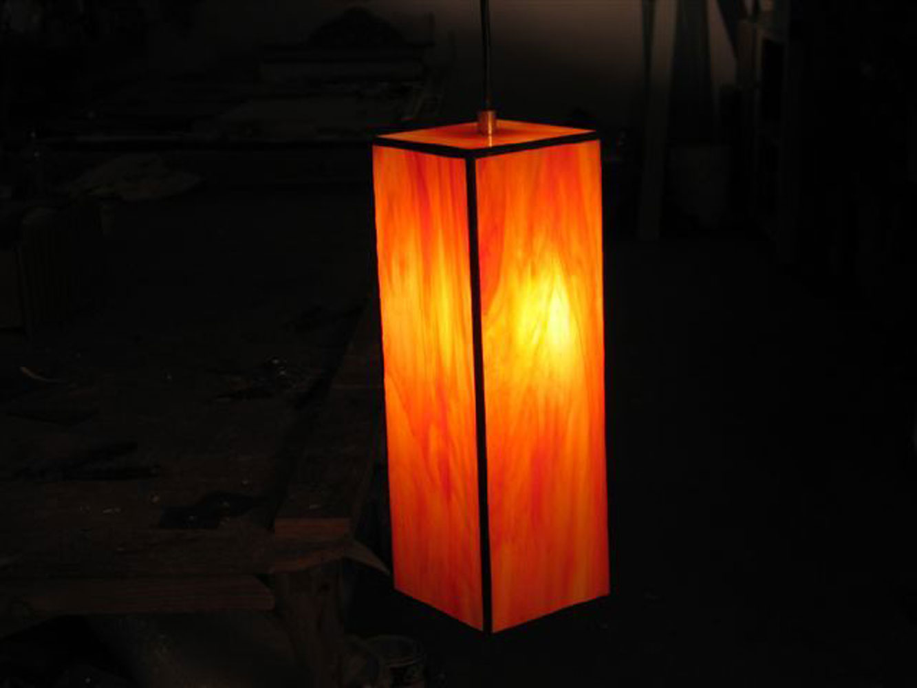 light fixtures- Formed cube, 30 cm high, 10 cm side