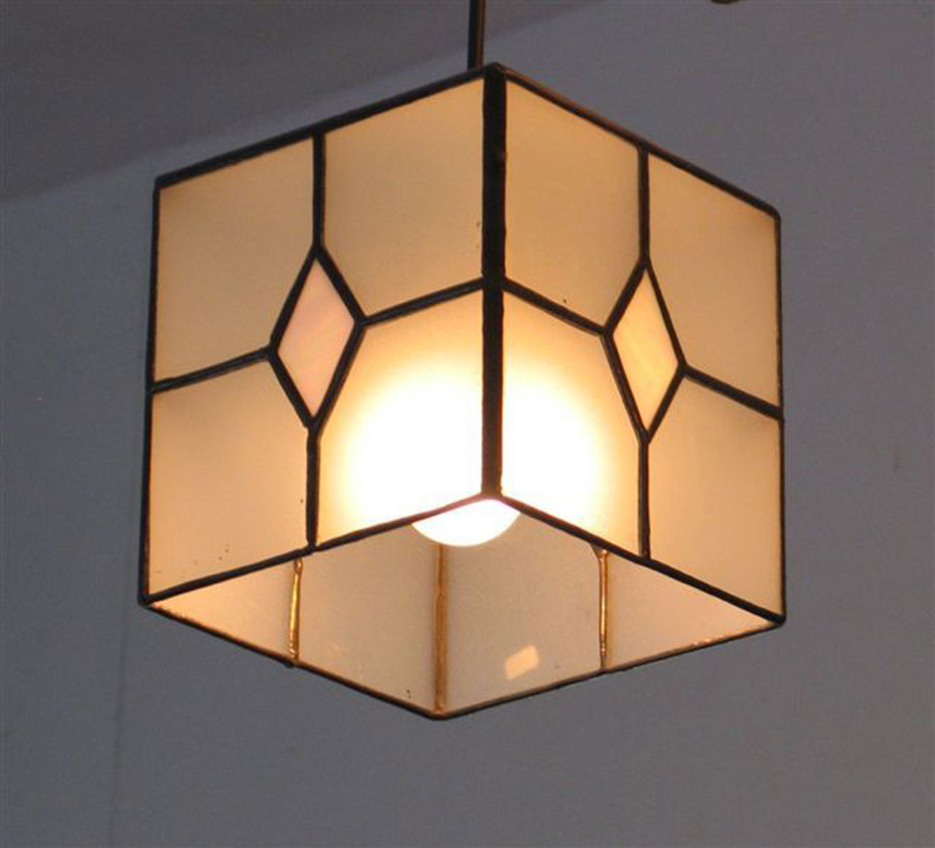 light fixtures- Cube, divided, 15 cm